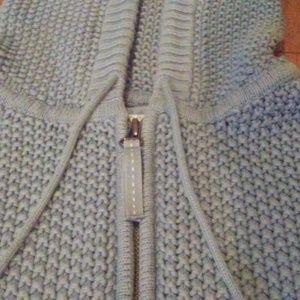 Old Navy Light Blue Knit Hoodie - L